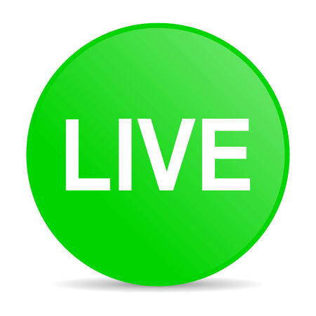 livestream: live internet icon