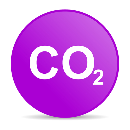 dioxido de carbono: icono de la web de di�xido de carbono
