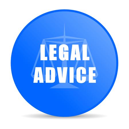asesoria legal: asesoramiento legal internet icono azul