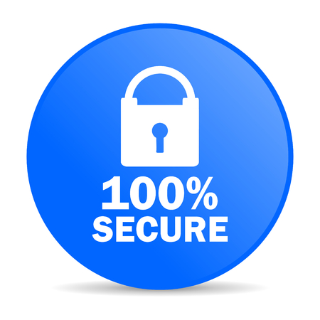 secure internet blue icon  photo
