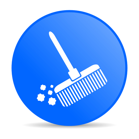 broom internet blue icon  photo