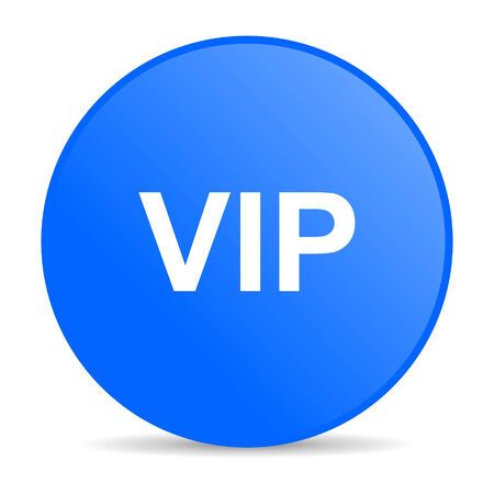 vip internet blue icon  photo