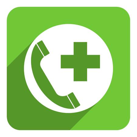 emergency call flat icon photo