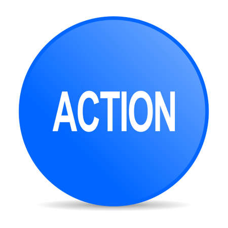 action internet blue icon  photo
