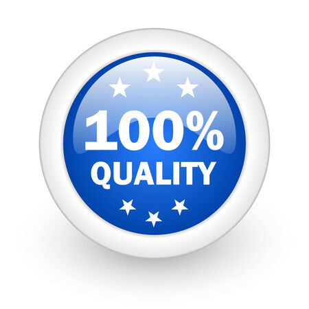 quality blue glossy icon on white background  photo