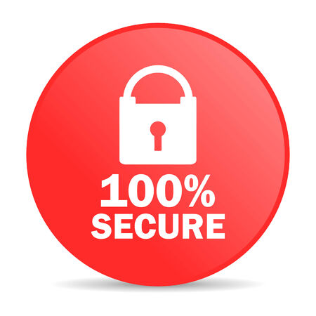 secure: secure web icon  Stock Photo