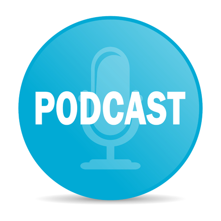 podcasting: podcast internet icon  Stock Photo