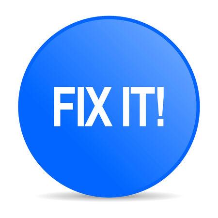 fix it internet blue icon  Stock Photo