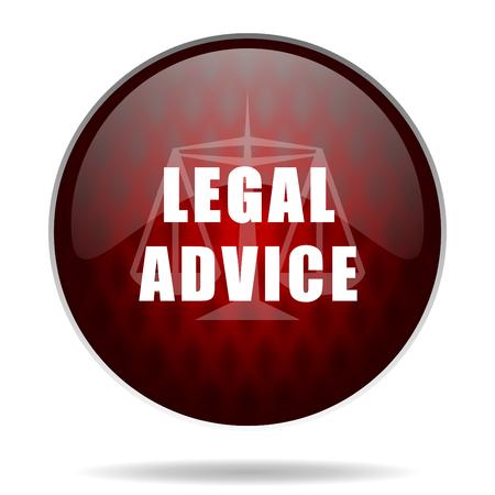 asesoria legal: asesoramiento jur�dico rojo icono web brillante sobre fondo blanco