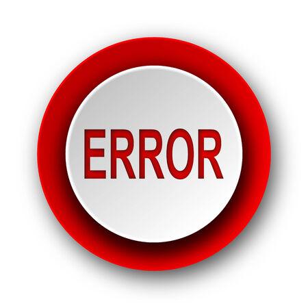 error red modern web icon on white background  photo