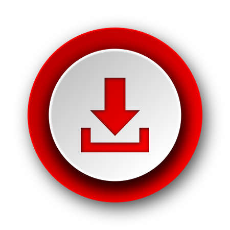 download red modern web icon on white background  photo