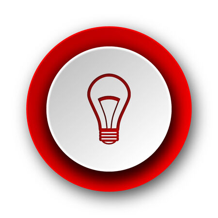 bulb red modern web icon on white background  photo