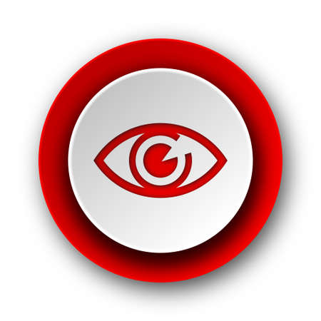 eye red modern web icon on white background  photo