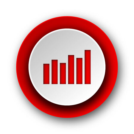 graph red modern web icon on white background  photo