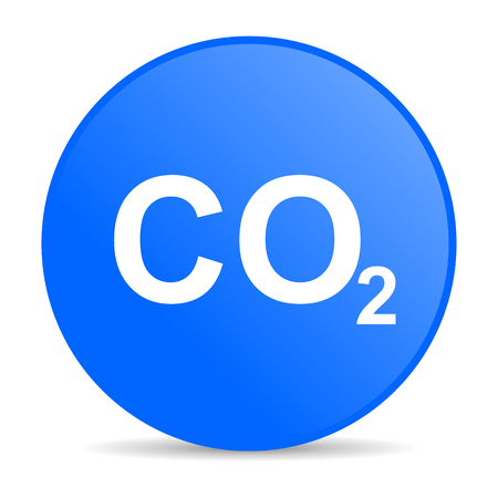 dioxide: carbon dioxide internet blue icon