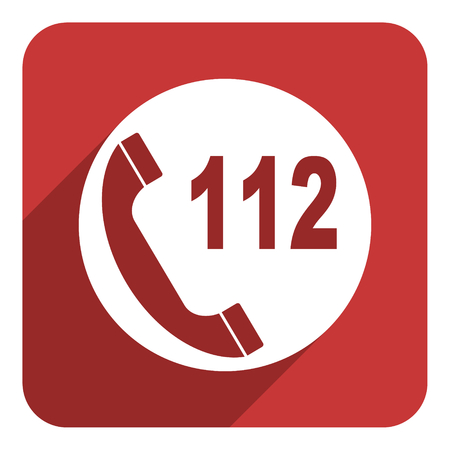 112 call flat icon photo