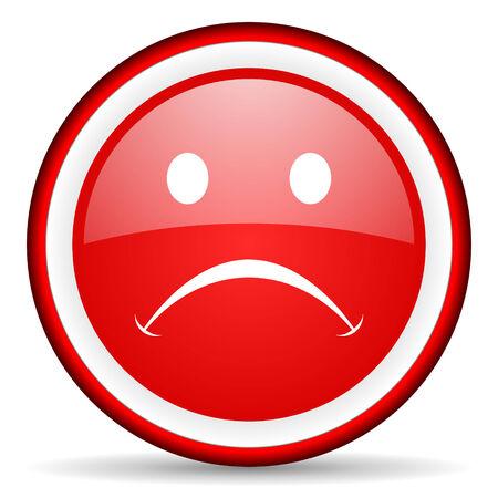 negate: red circle internet icon Stock Photo