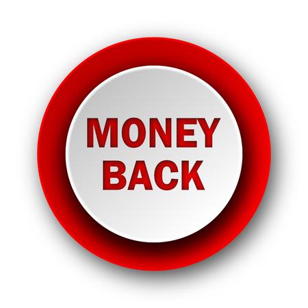 money back red modern web icon on white background  Stock Photo