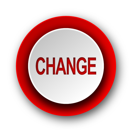 change red modern web icon on white background  photo