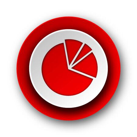 diagram red modern web icon on white background  photo