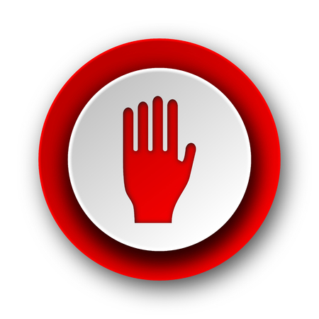stop red modern web icon on white background  photo