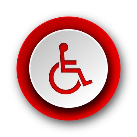 wheelchair red modern web icon on white background  photo