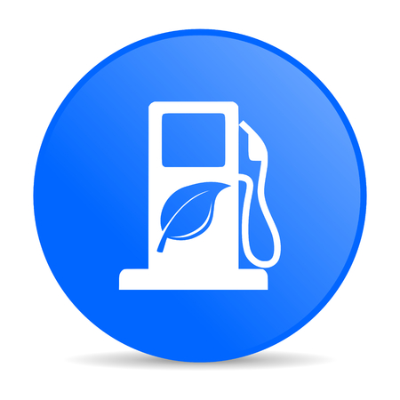 bio diesel: biofuel internet blue icon