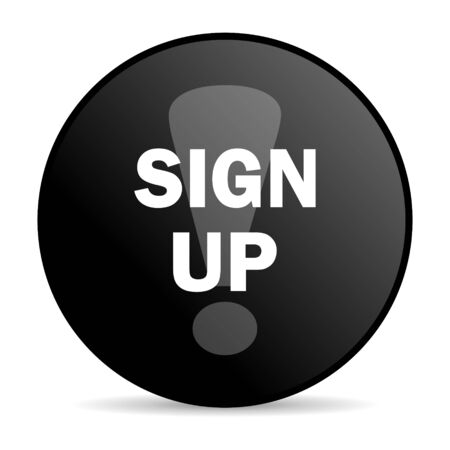 sign up icon: sign up icon