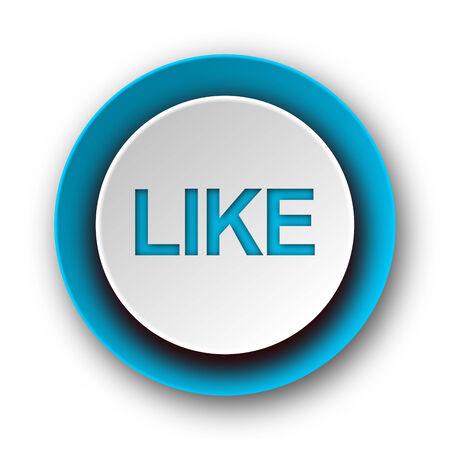 like blue modern web icon on white background