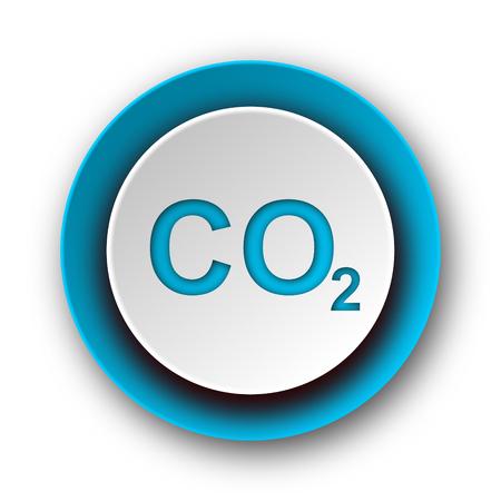 carbon dioxide blue modern web icon on white background  Stock Photo
