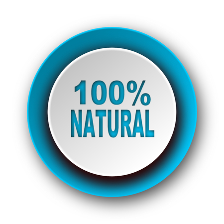 natural blue modern web icon on white background  photo