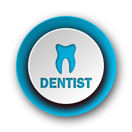 dentist blue modern web icon on white background
