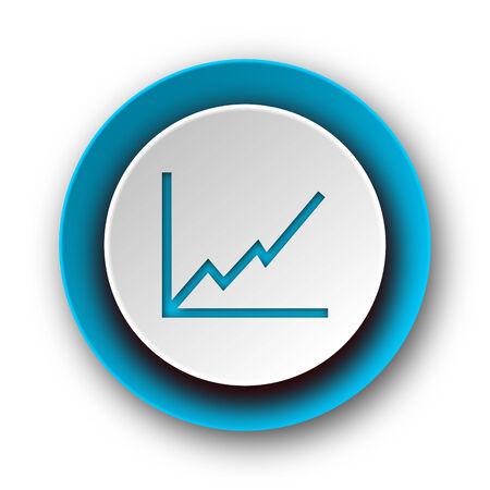 chart blue modern web icon on white background  photo