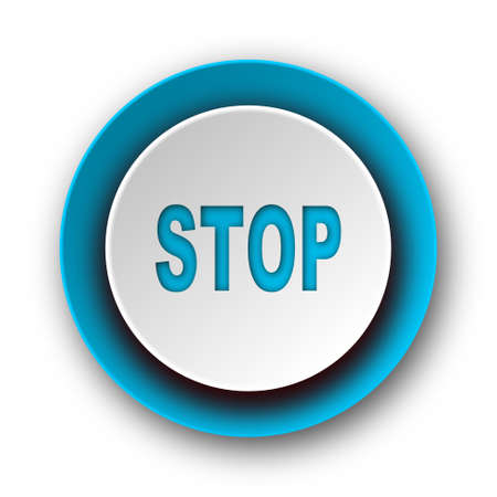 proscribed: stop blue modern web icon on white background  Stock Photo