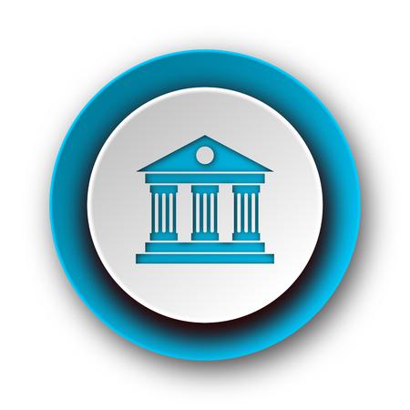 museum blue modern web icon on white background  photo