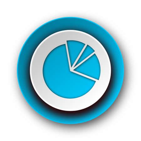 diagram blue modern web icon on white background  photo