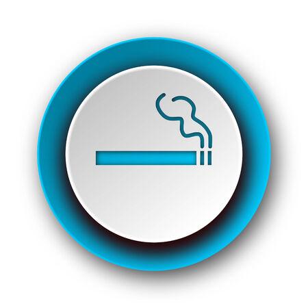 cigarette blue modern web icon on white background  photo