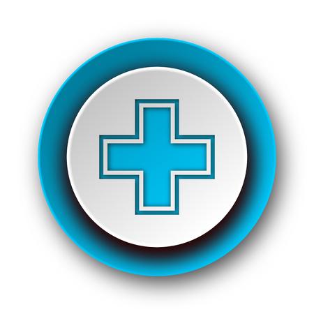 pharmacy blue modern web icon on white background  photo