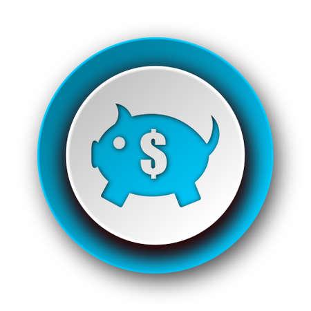piggy bank blue modern web icon on white background  photo