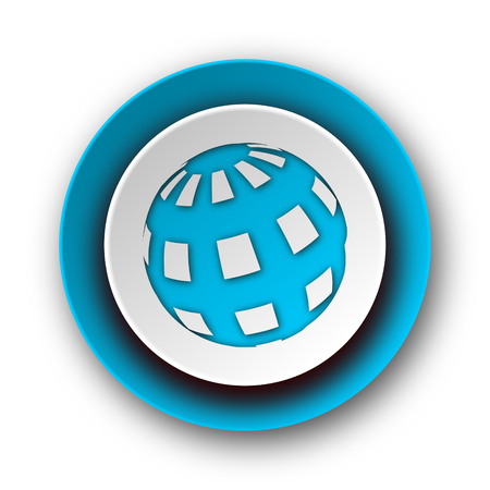 earth blue modern web icon on white background  Stock Photo