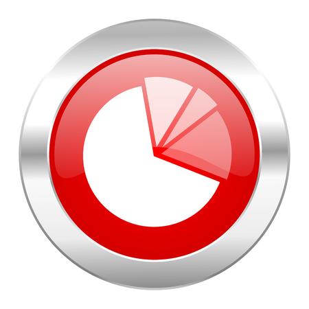 diagram red circle chrome web icon isolated photo