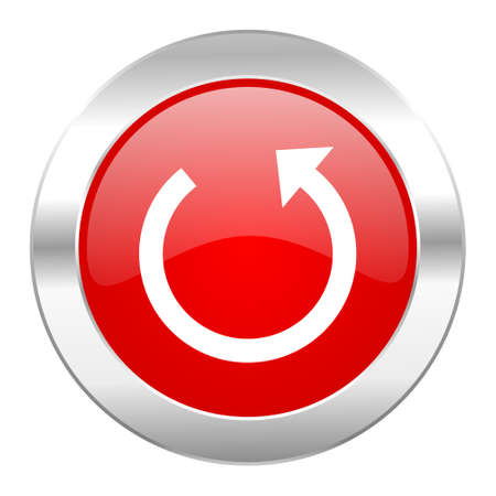 rotate red circle chrome web icon isolated