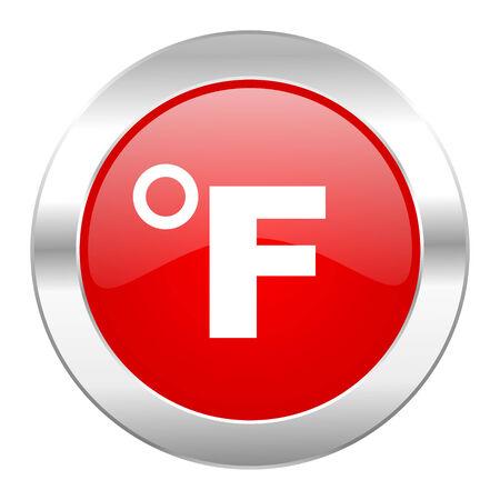 fahrenheit: aislado fahrenheit icono de Chrome Web c�rculo rojo