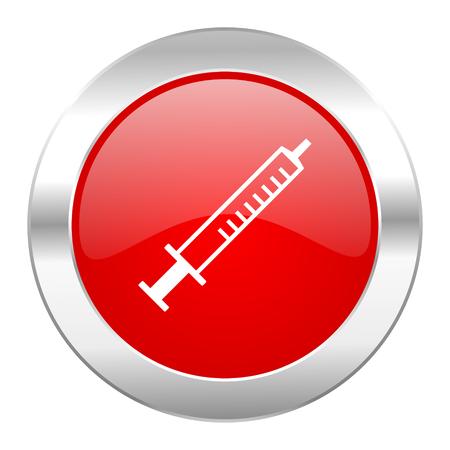 medicine red circle chrome web icon isolated photo