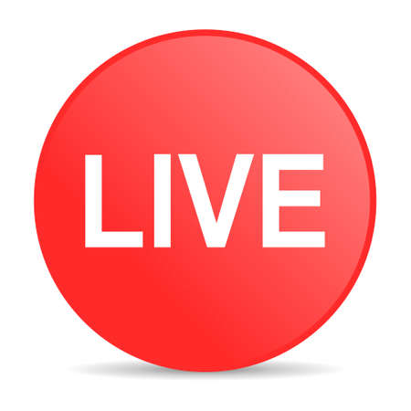 livestream: live web icon Stock Photo