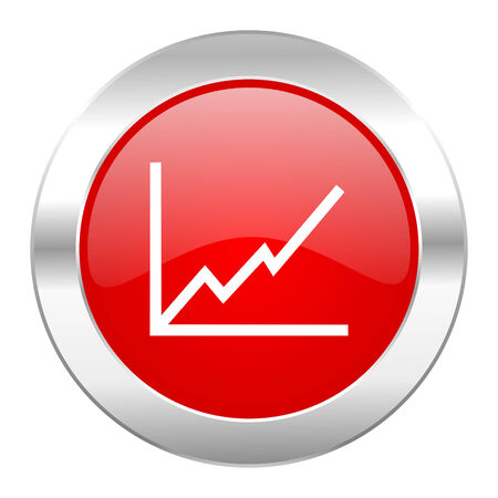 chart red circle chrome web icon isolated photo