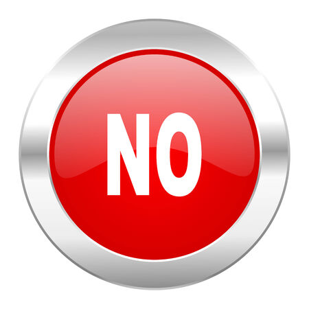 negate: no red circle chrome web icon isolated