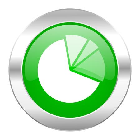 diagram green circle chrome web icon isolated photo
