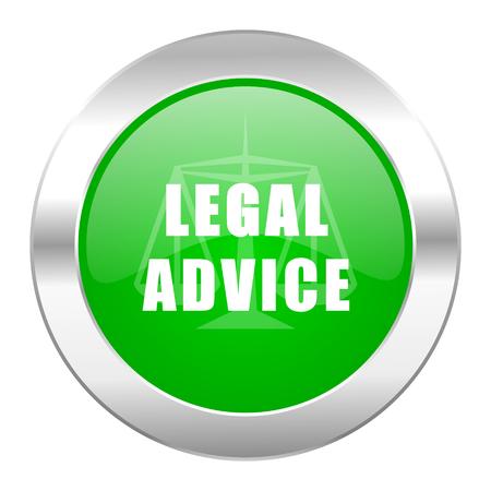 asesoria legal: aislado asesoramiento jur�dico icono de Chrome Web c�rculo verde Foto de archivo