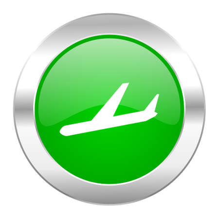 arrivals: arrivals green circle chrome web icon isolated